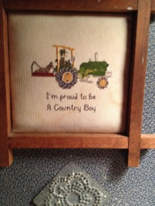 Counted cross-stitch that Mother did prior to moving back to the Windy Knoll.