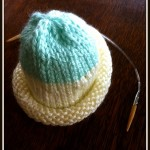 Cap-made-of-two-colors-and-knitting-needle-001